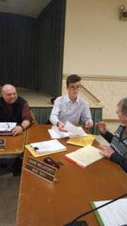 First meeting as a Junior Council member