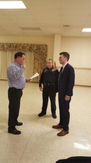 Swearing in Officer John Pruitte